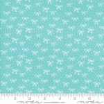 MODA FABRICS - Best Friends Forever - White Bows Aqua