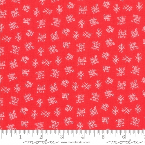MODA FABRICS - Best Friends Forever - Tic Tac Toe Red - #1828