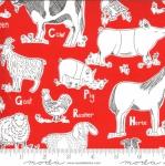 MODA FABRICS - On The Farm - Stacy Iest Hsu - Red