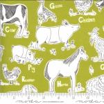 MODA FABRICS - On The Farm - Stacy Iest Hsu - Green