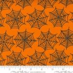 MODA FABRICS - Holiday Halloween - by Stacy Iest Hsu - Spiderwebs - Pumpkin