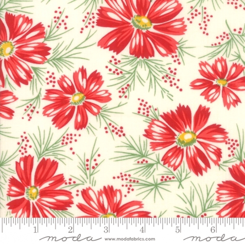 MODA FABRICS - Sweet Harmony - Large Floral Red