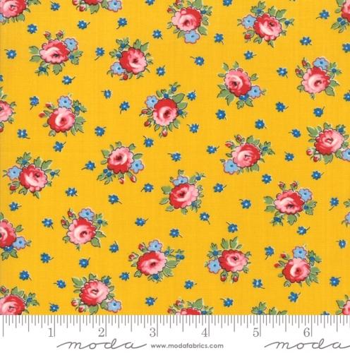 MODA FABRICS - Sweet Harmony - Small Floral Yellow
