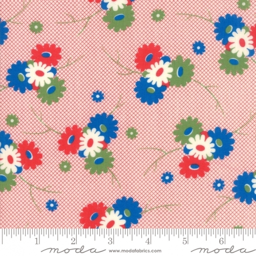 MODA FABRICS - Sweet Harmony - Posies On Red