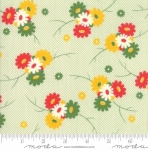 MODA FABRICS - Sweet Harmony - Posies On Green