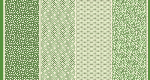 MODA FABRICS - Bubble Pop - Four In One - Green