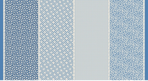 MODA FABRICS - Bubble Pop - Four In One - Blue