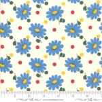 MODA FABRICS - Bubble Pop - Daisies And Dots - White