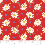 MODA FABRICS - Bubble Pop - Daisies And Dots - Red