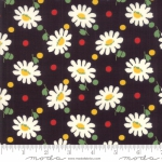 MODA FABRICS - Bubble Pop - Daisies And Dots - Black