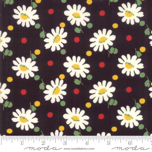 MODA FABRICS - Bubble Pop - Daisies And Dots - Black