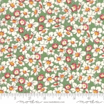 MODA FABRICS - Bubble Pop - Tossed Flowers - Green