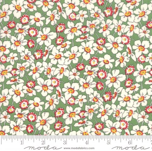 MODA FABRICS - Bubble Pop - Tossed Flowers - Green