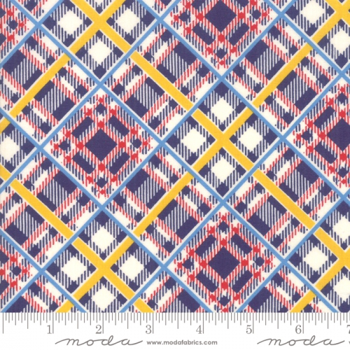 Skinny - SK3336- 1 yd - MODA FABRICS - Bubble Pop - Plaid - Navy