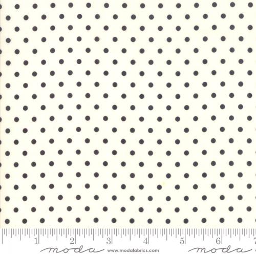MODA FABRICS - Bubble Pop - Polka Dots - White/Black