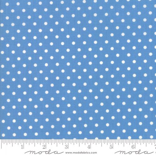 MODA FABRICS - Bubble Pop - Polka Dots - Blue
