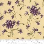 MODA FABRICS - Sweet Violet - Tossed Flowers Cream