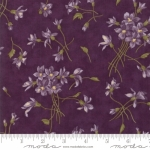 MODA FABRICS - Sweet Violet - Tossed Flowers Violet