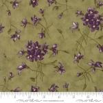 MODA FABRICS - Sweet Violet - Tossed Flowers Leaf
