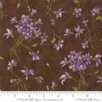 MODA FABRICS - Sweet Violet - Tossed Flowers Earth