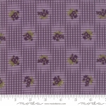 MODA FABRICS - Sweet Violet - Gingham Floral Violet - #2841-