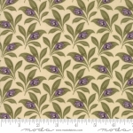 MODA FABRICS - Sweet Violet - Leaves Ivory