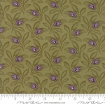 MODA FABRICS - Sweet Violet - Leaves Green