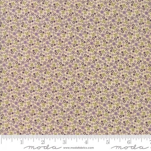 MODA FABRICS - Sweet Violet - Flower Field Ivory