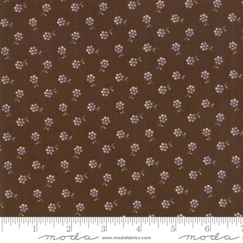 MODA FABRICS - Sweet Violet - Tiny Flower Earth