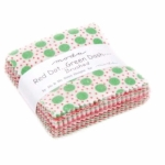 Red Dot Green Dash Brushed Mini Charm Pack - Moda Precuts