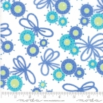 MODA FABRICS - Flower Sacks - Flowers & Bows White