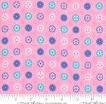 MODA FABRICS - Flower Sacks - Button Flowers Pink