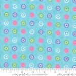 MODA FABRICS - Flower Sacks - Button Flowers Aqua