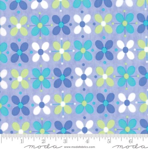 MODA FABRICS - Flower Sacks - Floral Blue - #1883