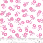 MODA FABRICS - Flower Sacks - Flower On White/Pink