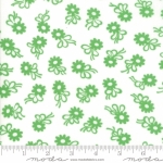 MODA FABRICS - Flower Sacks - Flower On White/Green - #1864