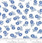 MODA FABRICS - Flower Sacks - Flower On White/Blue - #1862