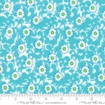 MODA FABRICS - Flower Sacks - Vines Aqua