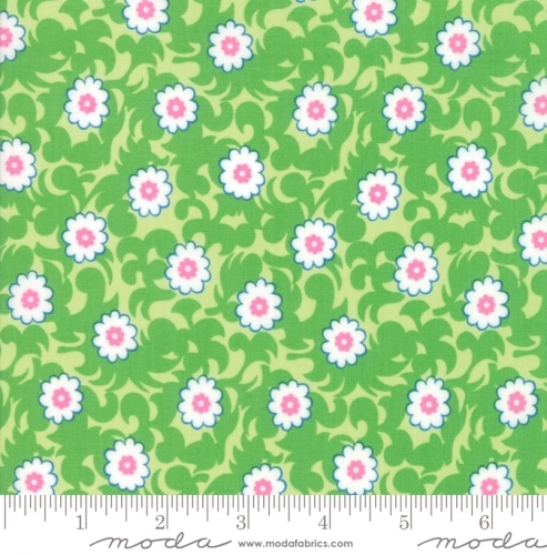 MODA FABRICS - Flower Sacks - Vines Green - #1872