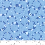 MODA FABRICS - Flower Sacks - Floral Wreath Blue
