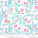 MODA - Flower Sacks - Framed Flowers Pink/Aqua - #1884