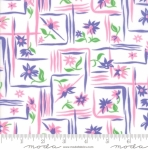 MODA FABRICS - Flower Sacks - Framed Flowers Purple/Pink