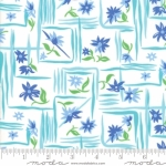 MODA FABRICS - Flower Sacks - Framed Flowers Aqua/Blue