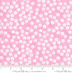 MODA FABRICS - Flower Sacks - Tossed Flowers Pink