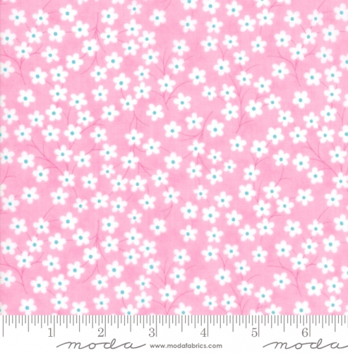 MODA FABRICS - Flower Sacks - Tossed Flowers Pink - #1876