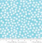 MODA FABRICS - Flower Sacks - Tossed Flowers Aqua