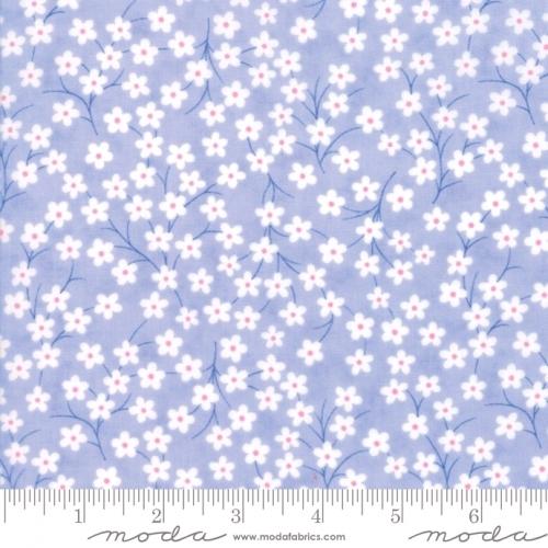 MODA FABRICS - Flower Sacks - Tossed Flowers Lavender - #1869
