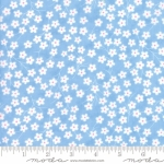 MODA FABRICS - Flower Sacks - Tossed Flowers Blue