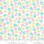 MODA FABRICS - Good Day - White Turquoise - #3125-