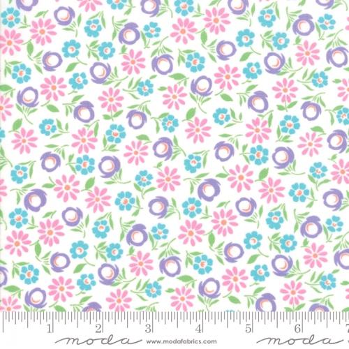 MODA FABRICS - Good Day - White Purple